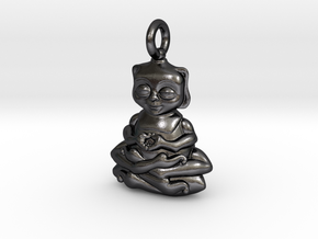 Bug Buddha  in Polished and Bronzed Black Steel