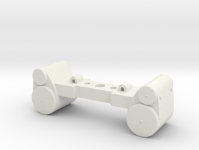 HO scale 4-6-0 piston cylinders replacement parts  in White Natural Versatile Plastic