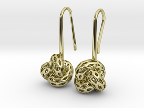 D-Strutura Soft. Smooth Rounded Earrings. in 18K Gold Plated