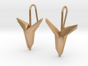 YOUNIVERSAL Asymetric  Earrings in Natural Bronze