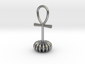 Torus energy pendant in Natural Silver