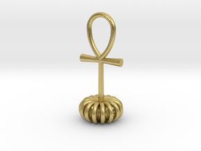 Torus energy pendant in Natural Brass