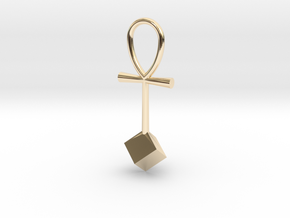 Cube energy pendant in 14K Yellow Gold