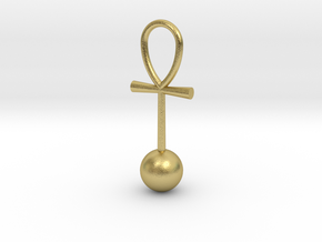 Zero Point Energy pendant in Natural Brass