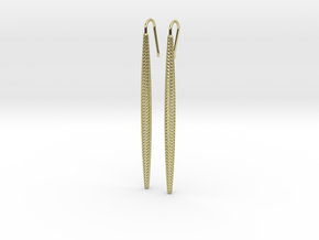 D-STRUCTURA Long. Elegant Earrings in 18k Gold Plated Brass