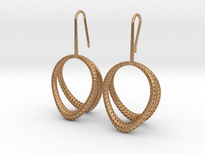 D-STRUCTURA Duo Earrings. Structured Chic in Natural Bronze