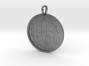 Glasya-Labolas Medallion in Polished Nickel Steel