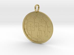 Glasya-Labolas Medallion in Natural Brass