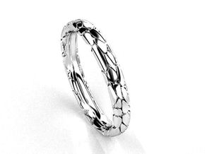 Wedding Ring Philharmonie 3mm in Polished Silver: 6.25 / 52.125