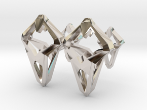 Prototype, Cufflinks. Sharp Chic for Him. in Rhodium Plated Brass