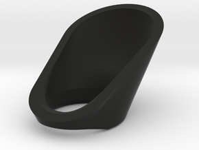 Fitted Archer's Thumb Ring- Version G3.5-20mm  in Black Natural Versatile Plastic