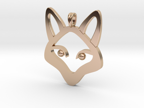 Small Fox 14K Gold Jewelry Necklace  in 14k Rose Gold Plated Brass
