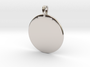 Initial charm jewelry pendant in Rhodium Plated Brass