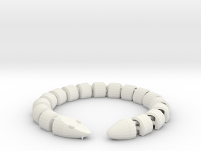 Articulated Snake in White Natural Versatile Plastic