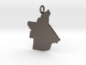 Butte County Pendant in Polished Bronzed-Silver Steel