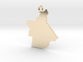 Butte County Pendant in 14k Gold Plated Brass
