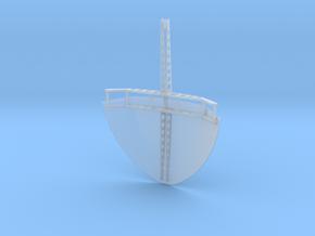 Abdeckung Back für Schlauchboot 1:25 in Smooth Fine Detail Plastic
