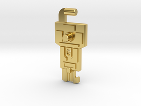 Cyber Key to Vector Sigma in Polished Brass: Medium