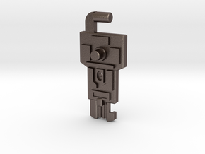 Cyber Key to Vector Sigma in Polished Bronzed-Silver Steel: Medium