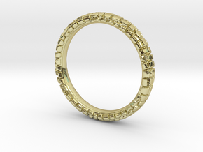 Wedding Ring Street 3 mm in 18k Gold Plated Brass: 6.25 / 52.125