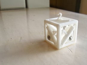 Pop-Up Dice in White Strong & Flexible Polished