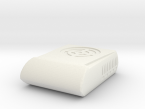 1/16th Air Conditioner Rooftop 'closed' type unit in White Natural Versatile Plastic