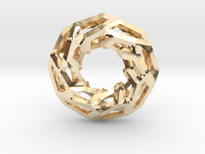 STRUCTURA 360 Sharp Edge, Pendant. Sharp Chic in 14K Yellow Gold
