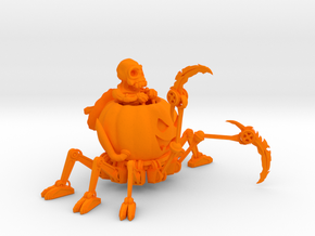 Mech O Lantern  50mm in Orange Processed Versatile Plastic