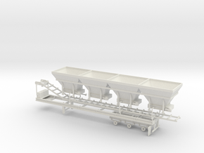 1/64th Cold Mix Aggregate Hopper Trailer in White Natural Versatile Plastic