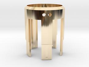 Rudy's HERO V3 LED Holder in 14k Gold Plated Brass