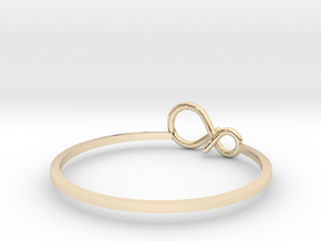 infinity ring (1) in 14k Gold Plated Brass