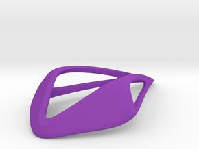 HIDDEN HEART Smooth Soft, Pendant in Purple Processed Versatile Plastic