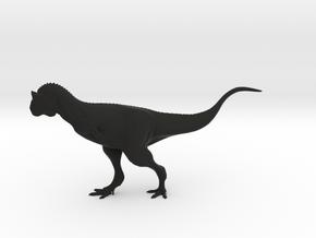 Carnotaurus sastrei - 1/40th Scale in Black Natural Versatile Plastic