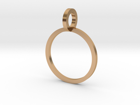 Charm Ring 12.37mm in Polished Bronze