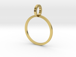 Charm Ring 13.61mm in Polished Brass