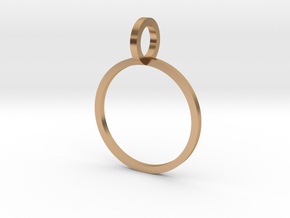Charm Ring 14.36mm in Polished Bronze