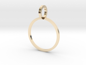Charm Ring 14.36mm in 14k Gold Plated Brass