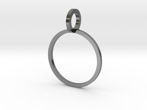 Charm Ring 14.56mm in Polished Silver
