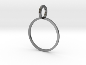 Charm Ring 16.30mm in Polished Silver