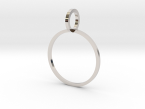 Charm Ring 16.92mm in Rhodium Plated Brass