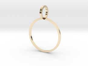 Charm Ring 16.92mm in 14K Yellow Gold