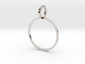 Charm Ring 17.75mm in Platinum