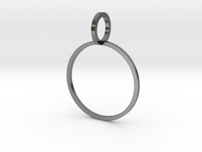 Charm Ring 18.19mm in Polished Silver