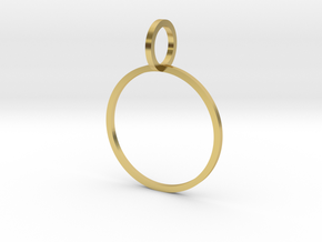 Charm Ring 18.53mm in Polished Brass
