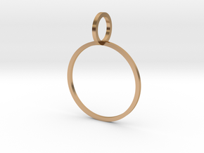 Charm Ring 18.89mm in Polished Bronze