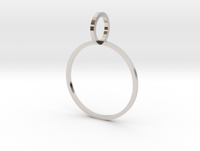 Charm Ring 18.89mm in Rhodium Plated Brass