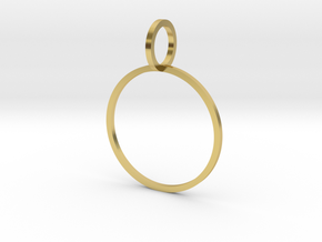 Charm Ring 19.41mm in Polished Brass