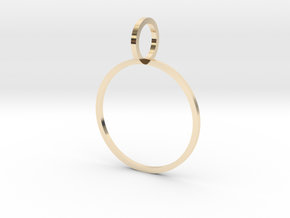 Charm Ring 19.41mm in 14k Gold Plated Brass