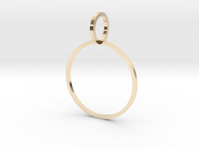 Charm Ring 19.84mm in 14k Gold Plated Brass