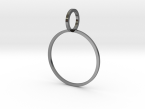 Charm Ring 19.84mm in Polished Silver